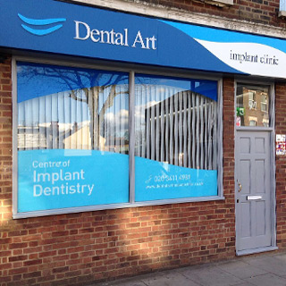 Enterance of Dental Art Implant Clinics - East Finchley