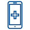 Blue Mobile Phone Icon