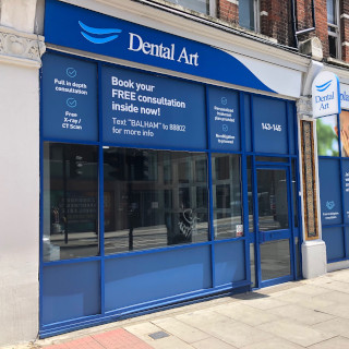 Front enterance at Dental Art Implant Clinics - Balham