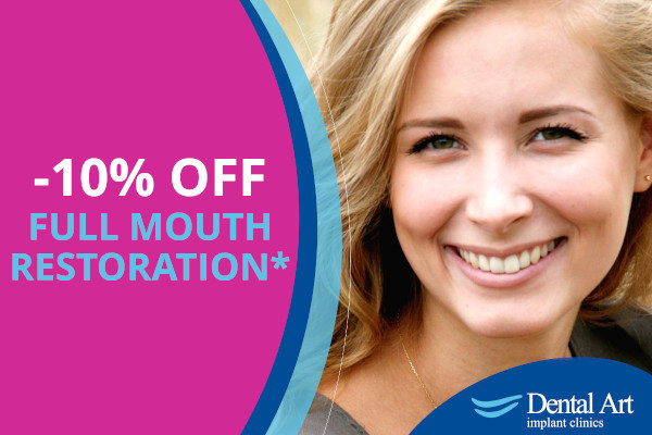 Discount on Full Mouth Restoration with Implants